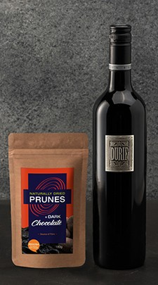 Durif and Dark Chocolate Prunes